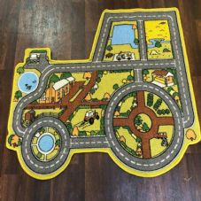 TRACTOR EDUCATIONAL SCHOOL PLAYMATS/RUGS 100X100CM NON SLIP LEARNING MATS